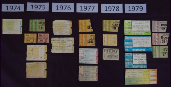 Dave Stafford - Concert Ticket Stubs - 1970s